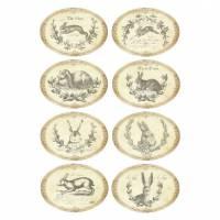 Aufkleber - Etiketten - Papier - Folie - Ostern - Hase - Vintage - Shabby - 1181 Bild 1