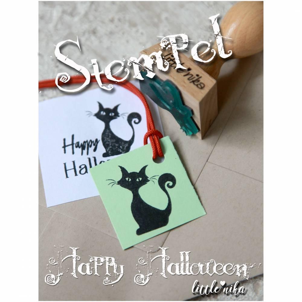 Stempel Halloween - Katze / Katzen-Motiv Bild 1