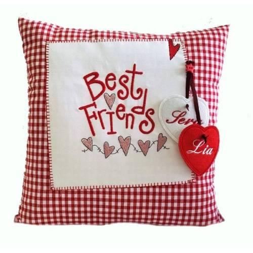 Best Friends Kissen für die beste Freundin,Freundschaftsgeschenk, Kissen Best Friends