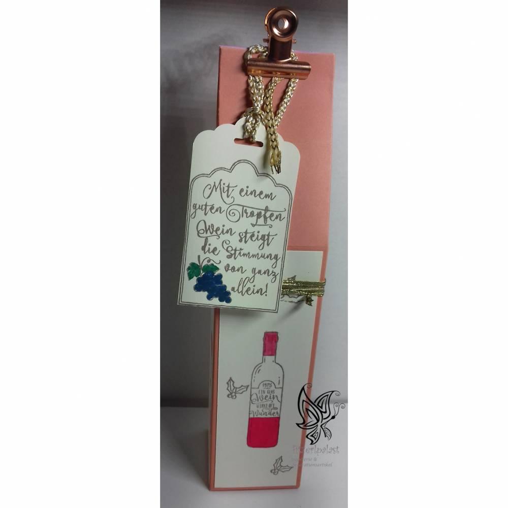 Geschenkverpackung für eine kleine Sektflasche Bild 1