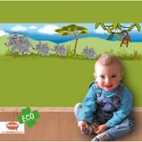 ECO Wandbordüre: Afrika Tiere - Savanne - 23 cm Höhe Bild 1