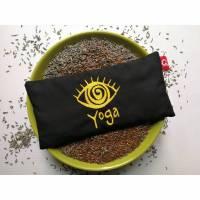 Yoga Augenkissen mit wunderschöner Stickerei in gold Bild 1