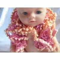 Schal, Spiralschal, Puppenkleidung, Puppen der Größe 42 cm, Handarbeit Bild 1