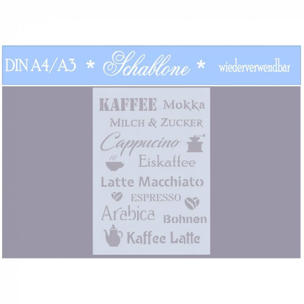 Schablone - A4 - A3 - wiederverwendbar - Vintage - Shabby - Nostalgie - Kaffee - 7200 Bild 1