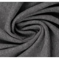 Walkstoff Walkloden gekochte Wolle Naomi, grau-meliert Bild 1