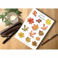 Sticker Herbst Herbstblätter Herbstmotive Aquarell Bullet Journal Planner sticker  Bild 1