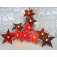 Lichterkette Weihnachtsstern in Rottönen, Weihnachtsdeko, Weihnachtsgeschenk Bild 1