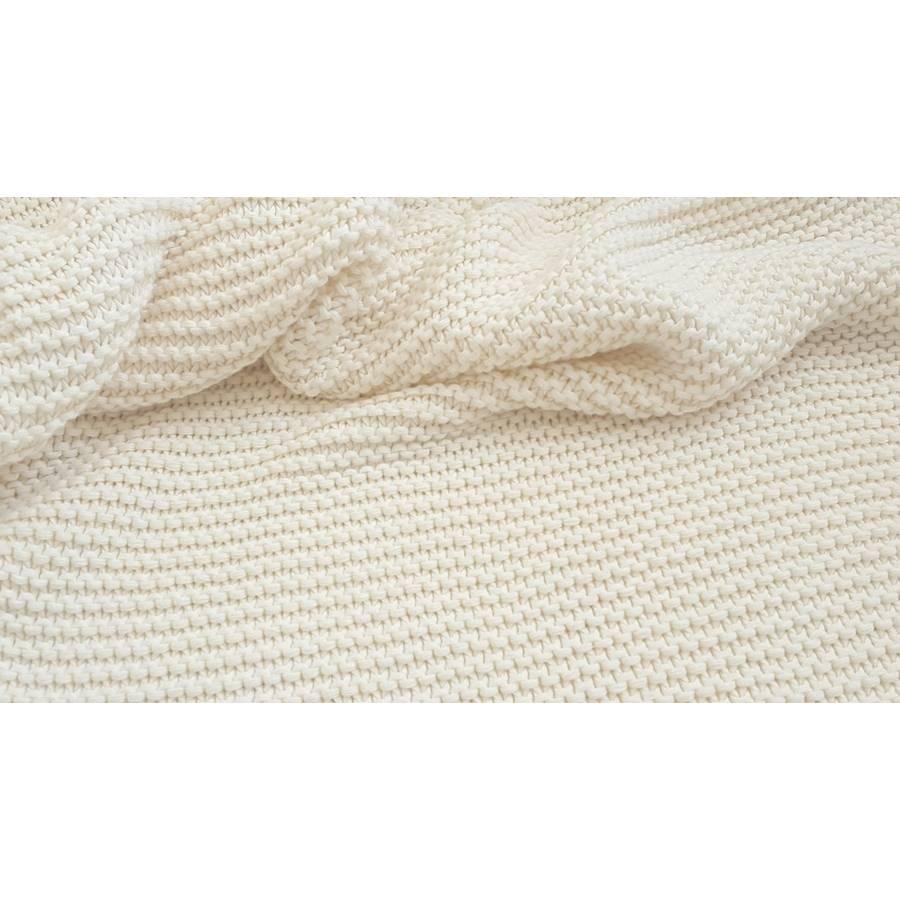 Strickstoff Grobstrick in creme 100% Baumwolle Bild 1