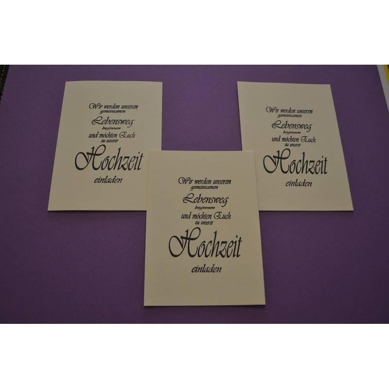Einladungskarten-Set zur Hochzeit mit Umschlag Bild 1