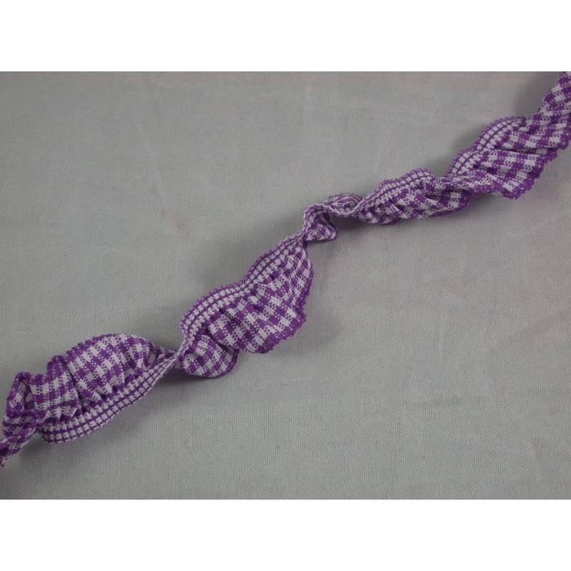1 m Rüschenband, Rüschengummi Bild 1