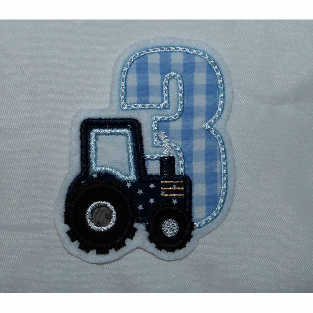 Applikationen, Aufnäher, Geburtstagszahl Traktor 1 - 9 Bild 1