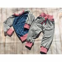 Baby- Langarmshirt und Pumphose, einzeln oder im Set, Gr. 86/92 Bild 1