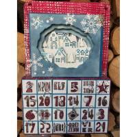 Adventskalender mit beleuchtbarer Diorama-Kulisse  (ROT-BLAU) zum Selbstbefüllen Bild 1