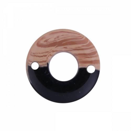 10 Verbinder, Donuts, Perlen, Schmuckperlen, Harz, Holz, Harzperlen, Holzperlen, 18mm, 0096798