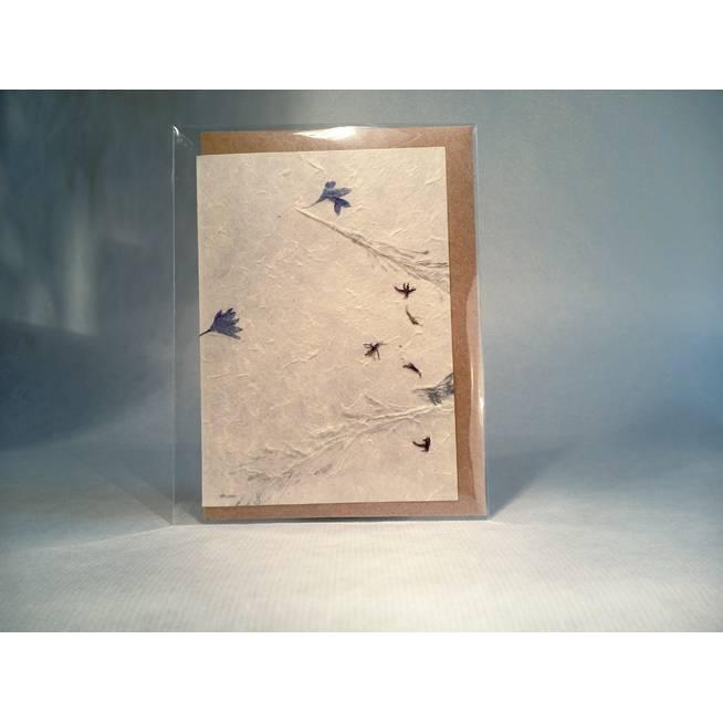 Klappkarte A6, Loktapapier, Motiv Kornblume + Gräser Bild 1