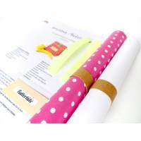 DIY Nähset, Nähpaket Lunchbag, Badetasche, ausgedruckter Schnitt, Nähanleitung und sämtliche Zutaten, pink mit Pünktchen- weißes Futter Bild 1