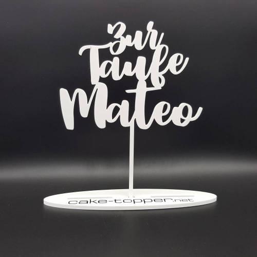 Cake Topper Taufe V4