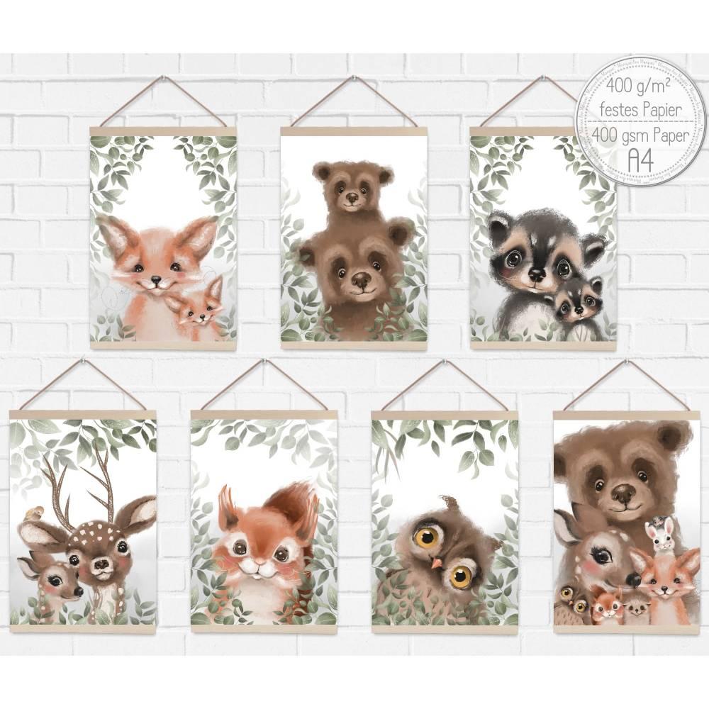 A4 | Poster Kinder-Zimmer Bilder Baby-Zimmer Deko | SET48 Bild 1