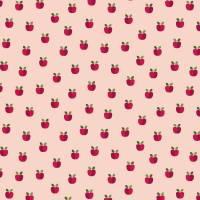 Beschichtete Baumwolle Wachstuch Äpfelchen Apfel rose Bild 1