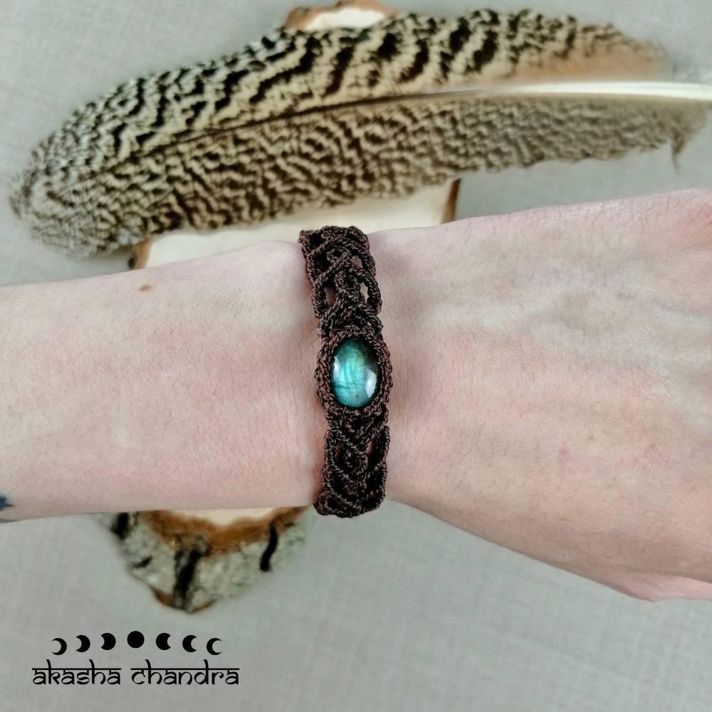 Labradorit Makramee Armband Bild 1