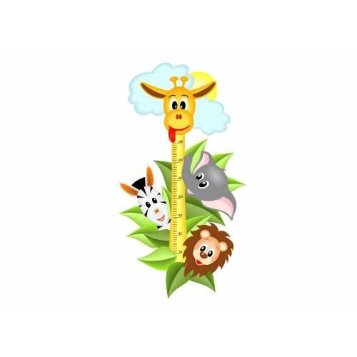 040 Wandtattoo Messlatte Maßstab Kind Kinderzimmer Safari Tiere *nikima*