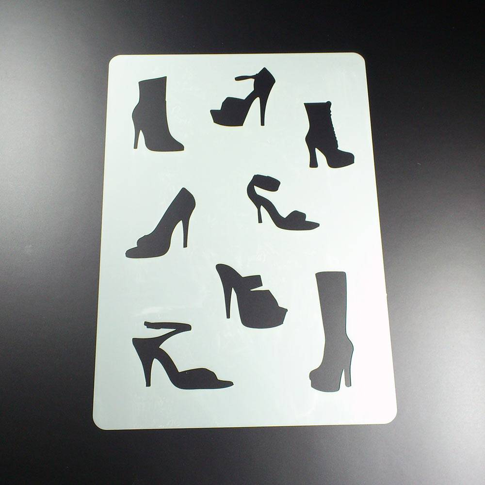 Schablone Schuhe 8 Motive High-Heels Stiletto Pumps - BA14 Bild 1