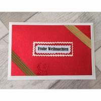 Tolle Weihnachtsgrußkarte mit passendem Kuvert - aufklappbar Bild 1