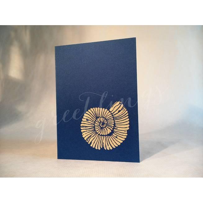 Klappkarte A6, Motiv Ammonit Bild 1