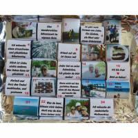 24 Schokoladentäfelchen Adventskalender Füllung mit Fotos eigenem Text  Bild 1