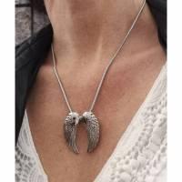 Kette, Edelstahl ,Flügel, Halskette, beschützen, Engel Bild 1