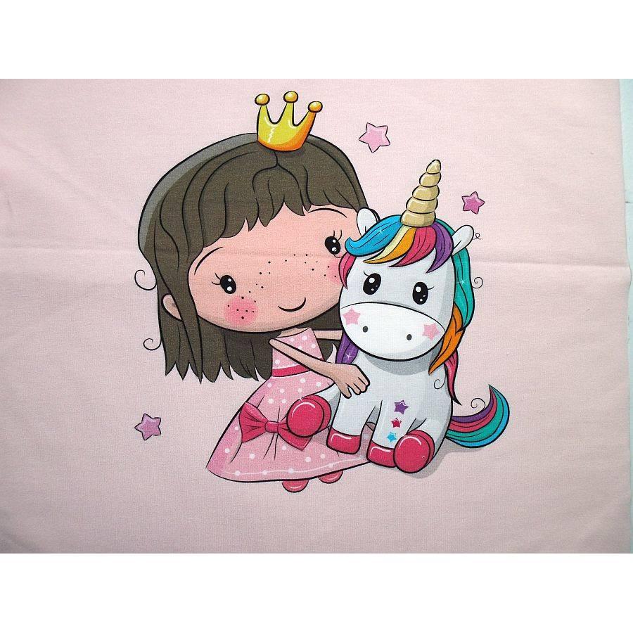 Süßes Panel Prinzessin und Einhorn Bild 1