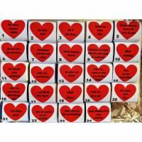 24 Schokoladentäfelchen personalisiert für Adventskalender Füllung Bild 1