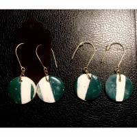Greeny, Earrings, Ceramicearring, jewellry, Schmuck, Keramikschmuck, Ohrhänger, Bild 1