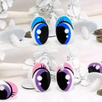5 Paar Puppen- & Tieraugen mit Sicherheitsstecker 25 x 16 mm Farbauswahl Bild 1