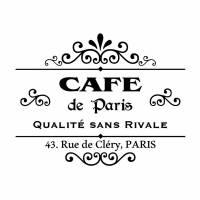 Wandtattoo - Möbeltattoo - Vinyl - Vintage - Shabby - Cafe - Paris - 6020 Bild 1