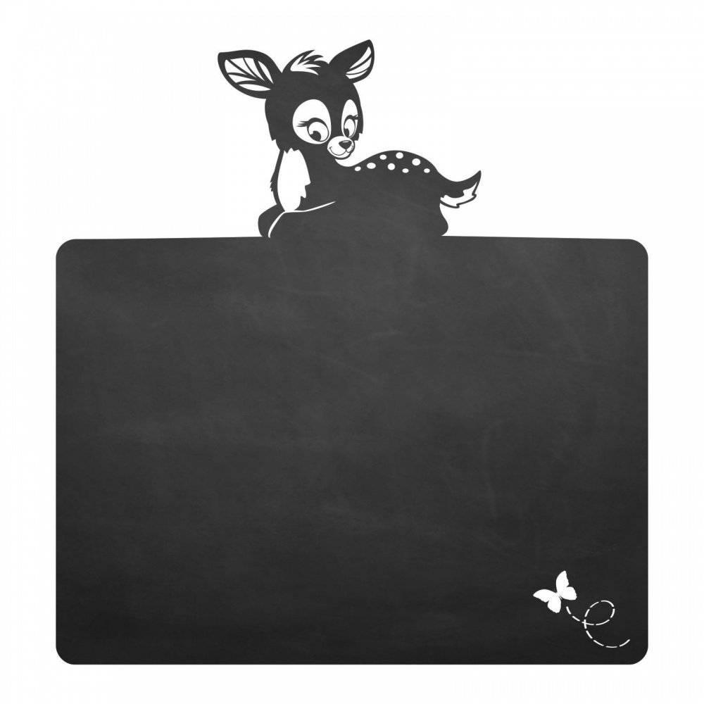 018 Rehkitz - selbstklebende Tafelfolie/Kreidefolie inkl. 3 Stück Kreide - Größe: 900 x 950 mm - Kinderzimmer Wanddeko Bild 1