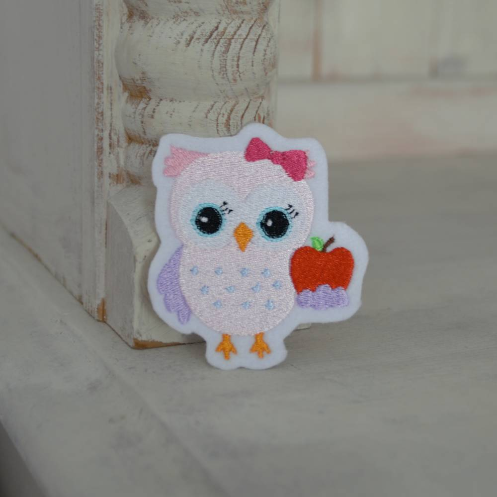 Applikation Eule  Bild 1