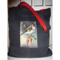 Nachhaltige Einkaufstasche Shopper Stieglitz mit Reißverschlusstasche hinten