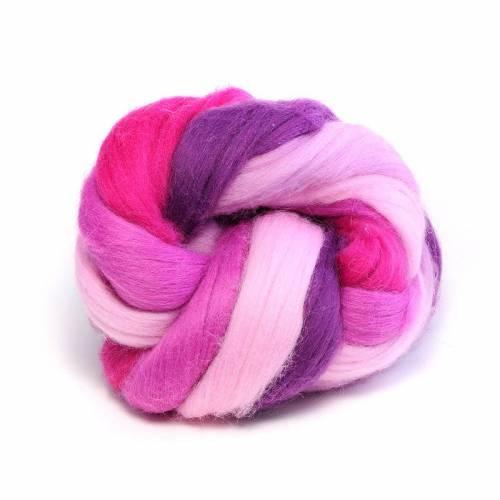 Märchenwolle/Filzwolle in Rosa und Pink und Violett im Set
