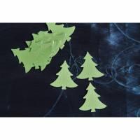 25 Tannenbäume für Adventskalender Zahlen Anhänger Bild 1