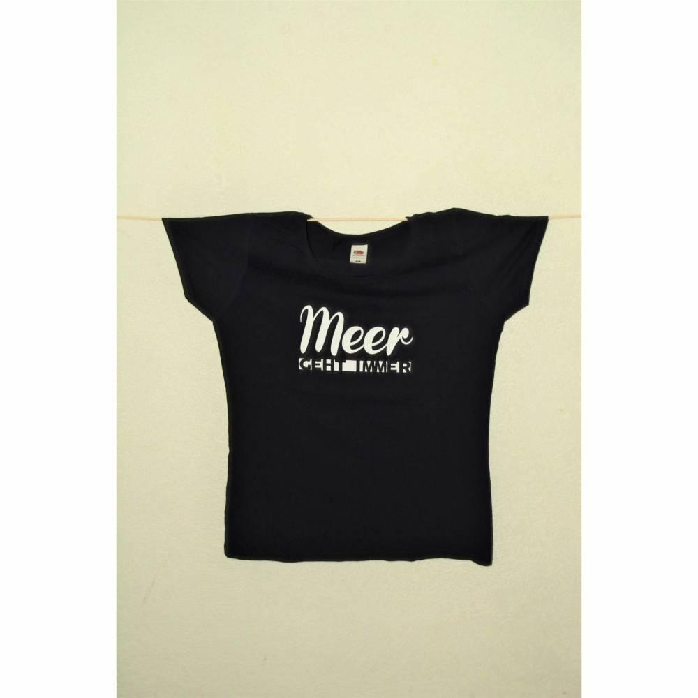 """T-Shirt für Damen mit Aufdruck """"Meer geht immer"""" Bild 1"""