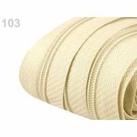 3 Meter Endlos-Reißverschluss spiralförmig 3 mm + 10 Zipper beige Bild 1