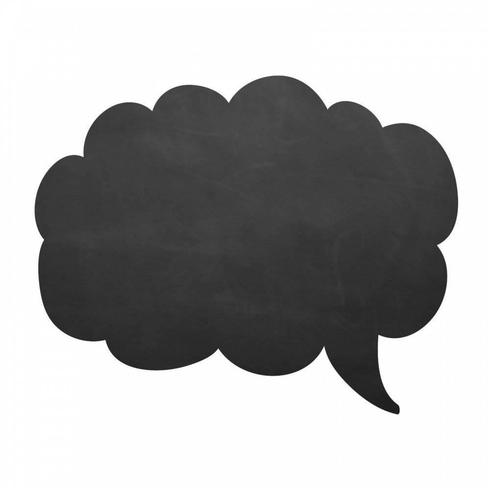 009 Sprechblase Wolke - selbstklebende Tafelfolie/Kreidefolie inkl. 3 Stück Kreide - Größe: 750 x 600 mm - Kinderzimmer Wanddeko Bild 1