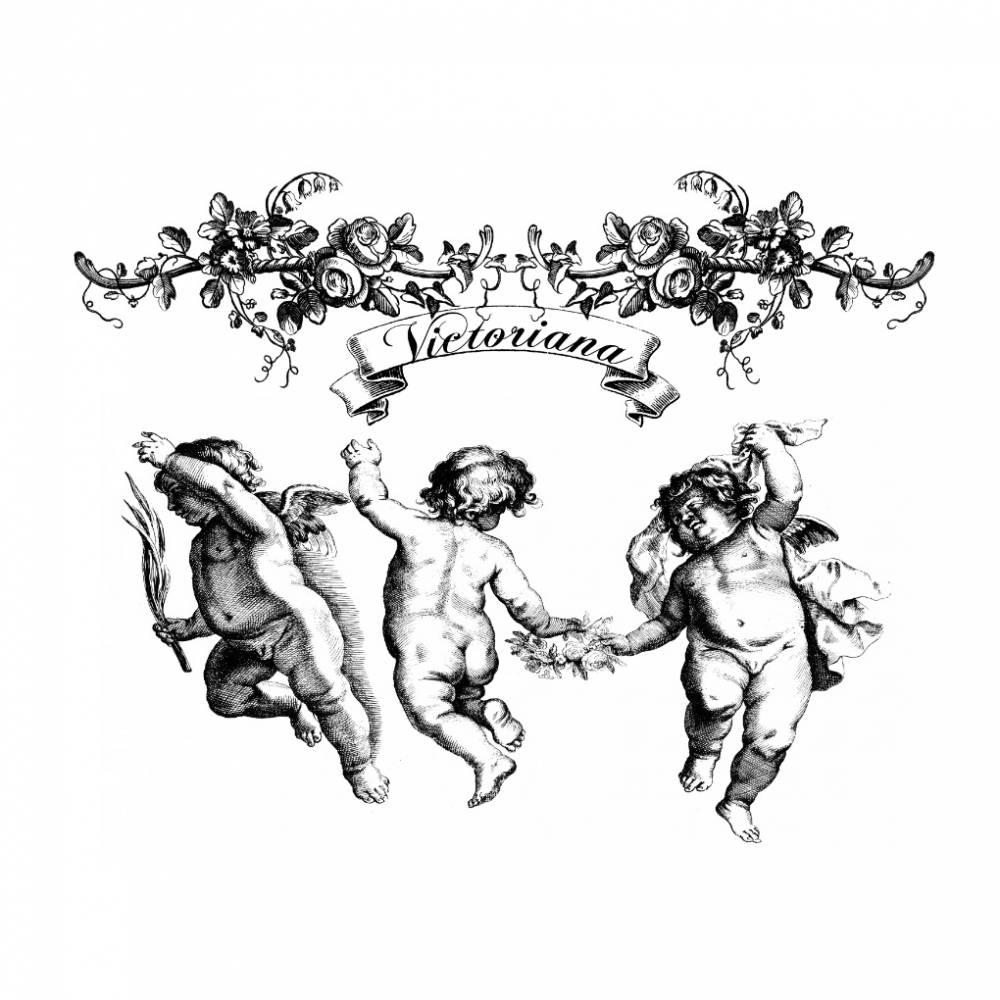 Bügelbild - Weihnachten - Engel - Vintage - Shabby - Transfer - 3191 Bild 1