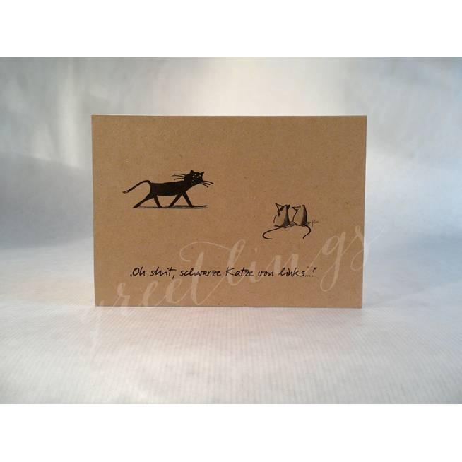 Postkarte A6, Katz und Maus Bild 1