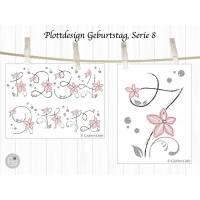 Plotterdatei Geburtstag Blumen, Serie 8 Bild 2
