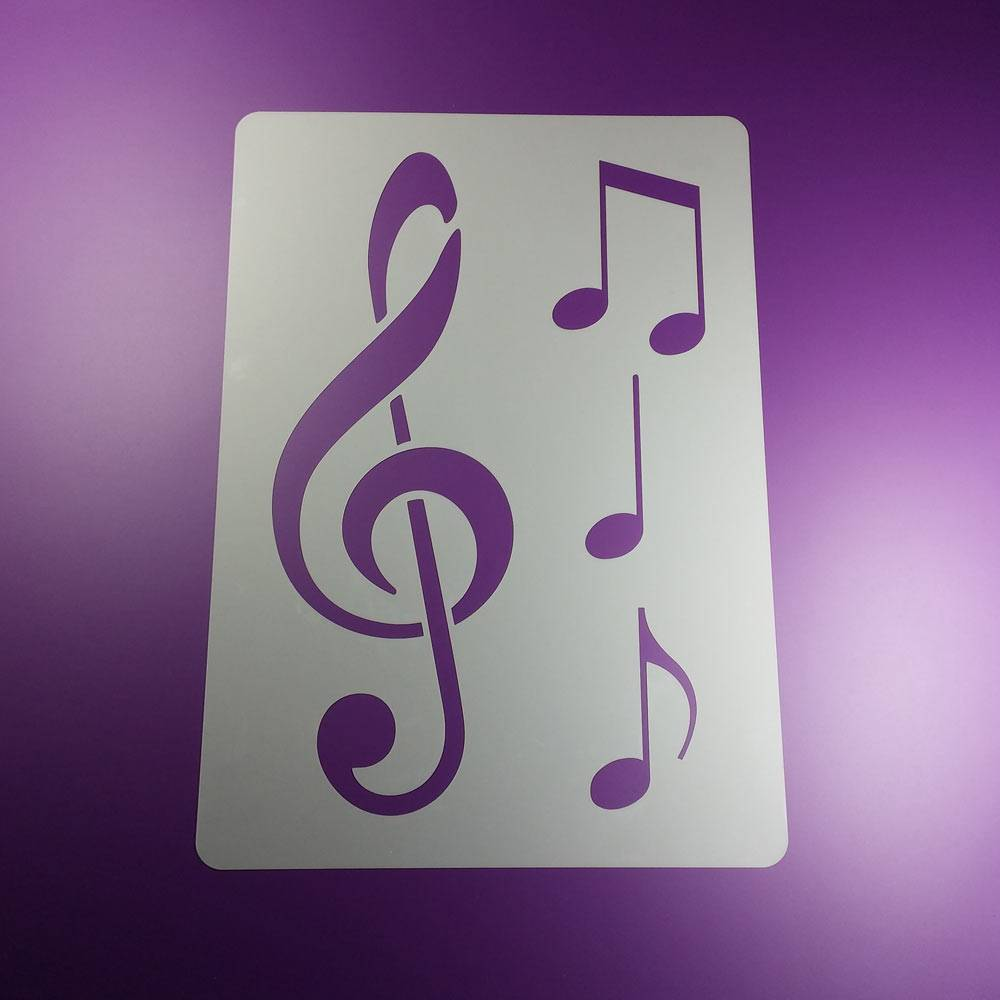 Schablone Notenschlüssel Musik Note 3 Noten - BA87 Bild 1