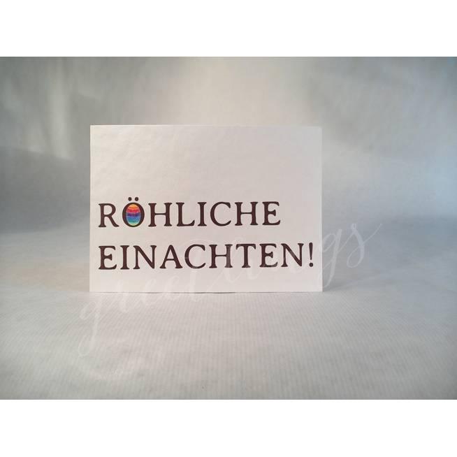 Postkarte A6, »Röhliche Einachten« Bild 1