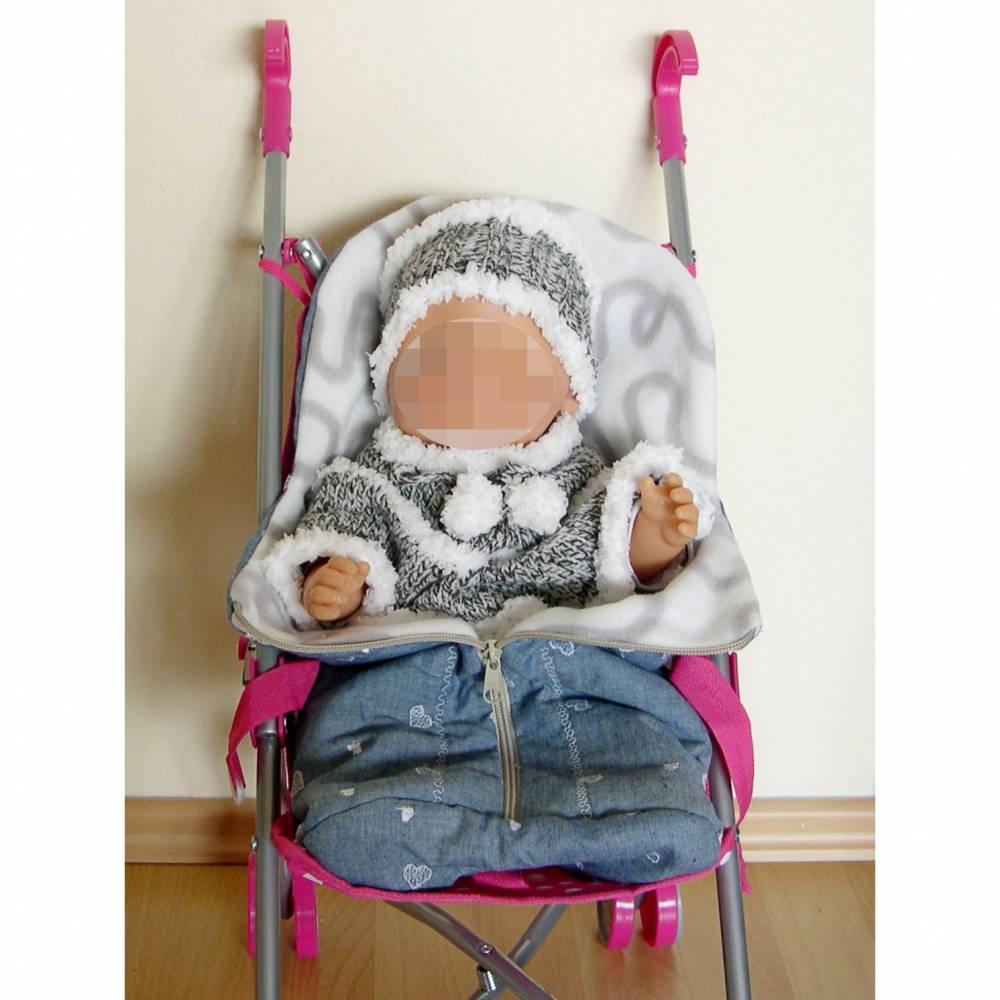 Frühchen Fuß-Sack, Fußsack für Puppen-Sportwagen, Puppenfußsack, Früchchen-Schlafsack, Fußsack Puppenwagen  Bild 1