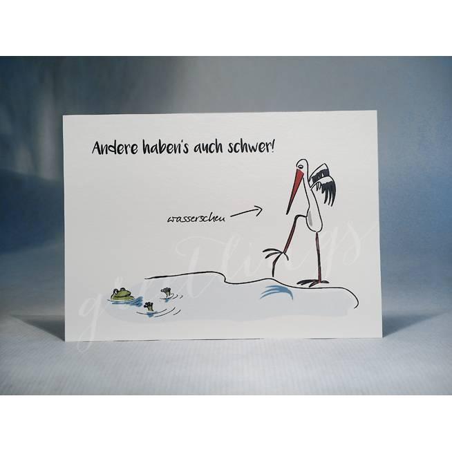 Postkarte A6, »Wasserscheu« Bild 1
